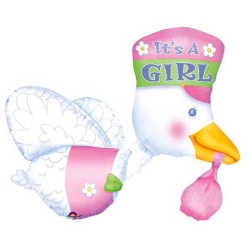 Parti Paketi It's A Girl Leylek Multi Folyo Balon