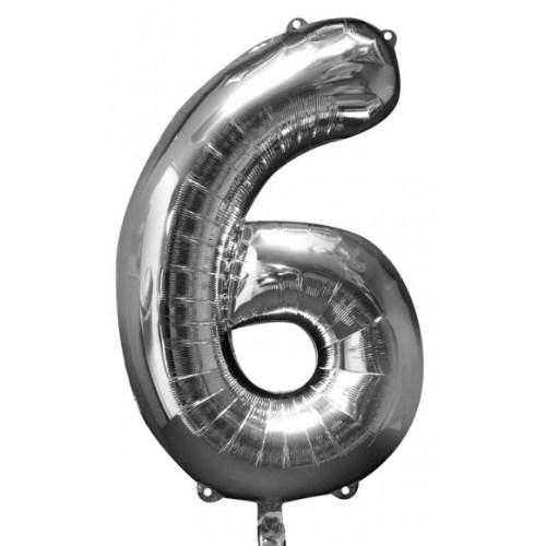 Parti Paketi 6 Sayısı Gümüş Supershape Folyo Balon