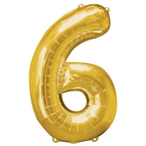Parti Paketi 6 Sayısı Altın Supershape Folyo Balon