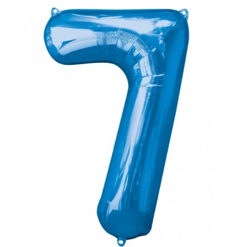 Parti Paketi 7 Sayısı Mavi Supershape Folyo Balon