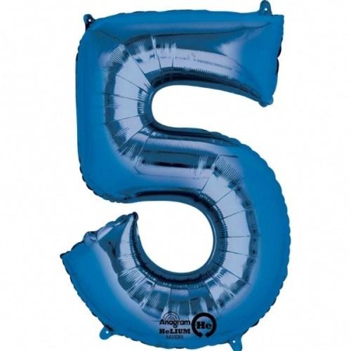 Parti Paketi 5 Sayısı Mavi Supershape Folyo Balon