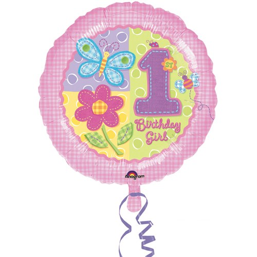 Parti Paketi İlk Yaş Kız Folyo Balon