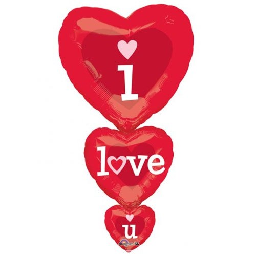 Parti Paketi Supershape Folyo Balon Katlı Aşk