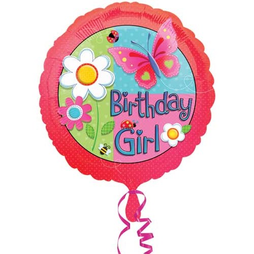 Parti Paketi Çiçek Kız Folyo Balon