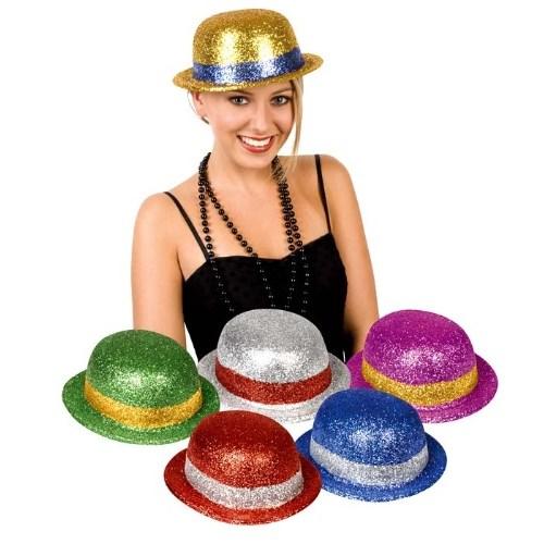 Parti Paketi Simli Melon Şapka Renkli