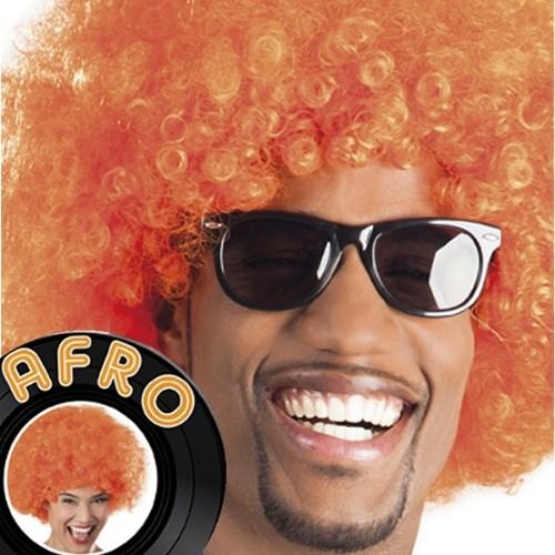 Parti Paketi Afro Turuncu Peruk Büyük