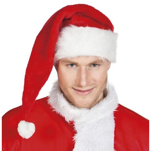 Parti Paketi Noel Baba Şapkası Delüks Uzun