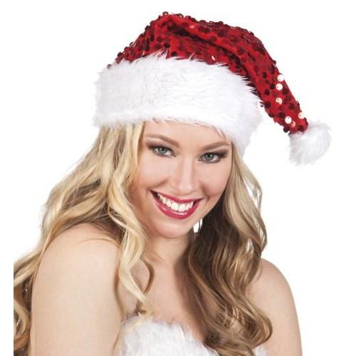 Parti Paketi Noel Baba Şapkası Payetli