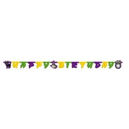Parti Paketi Tatlı Cadı Happy Birthday Banner
