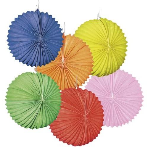 Parti Paketi Yuvarlak Kağıt Fener Renkli 22Cm