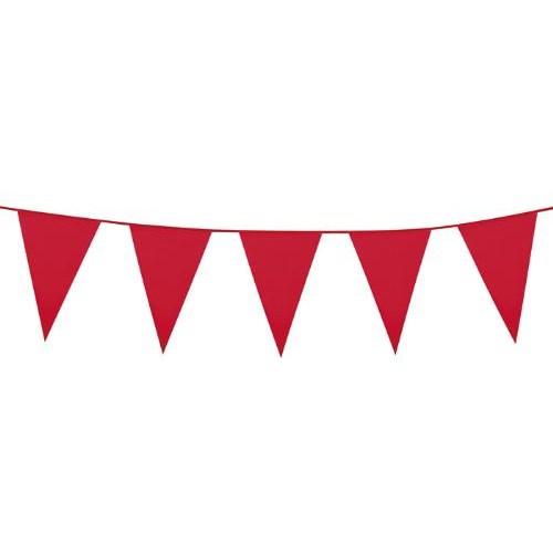 Parti Paketi Kırmızı Büyük Bayrak Dizisi 10M
