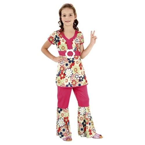 Parti Paketi Hippi Kız Kostümü Lüks 7-9 Y