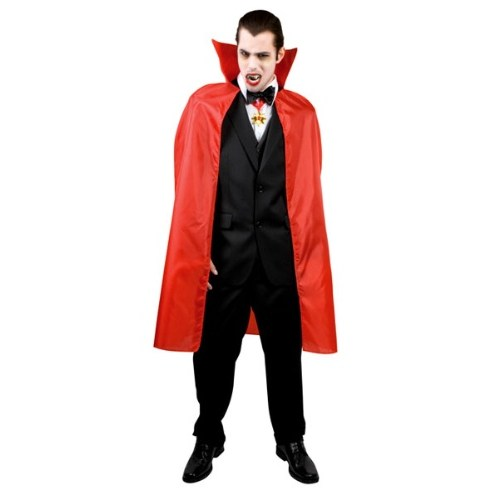 Parti Paketi Şeytan/Vampir Pelerini Kırmızı Kumaş İpli 120Cm