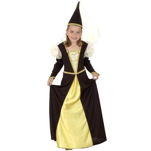 Parti Paketi Ortaçağ Prensesi Kostüm Ve Şapka 7-9 Y
