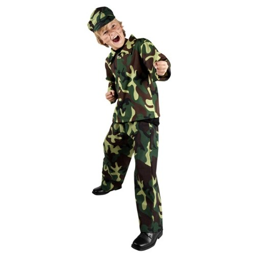 Parti Paketi Komando Asker Kostümü Lüks 4-6 Y