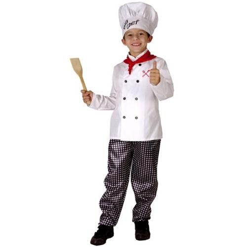 Parti Paketi Şef Aşçı Kostümü Süperlüks 7-9 Y