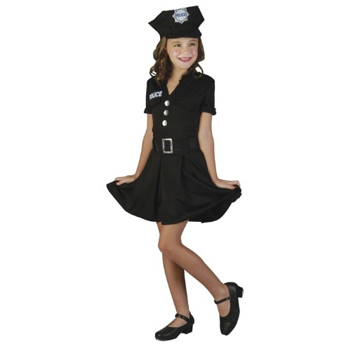 Parti Paketi Polis Kostümü Kız Çocuk 7-9