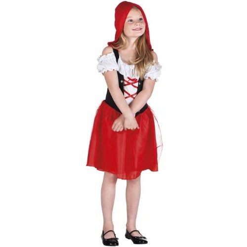 Parti Paketi Kırmızı Başlıklı Kız Kostüm 4-6 Yaş