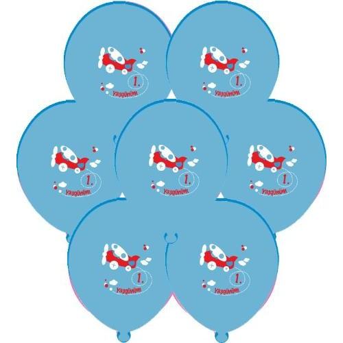 Parti Paketi 1. Yaş Günü Mavi Balon 25'Li