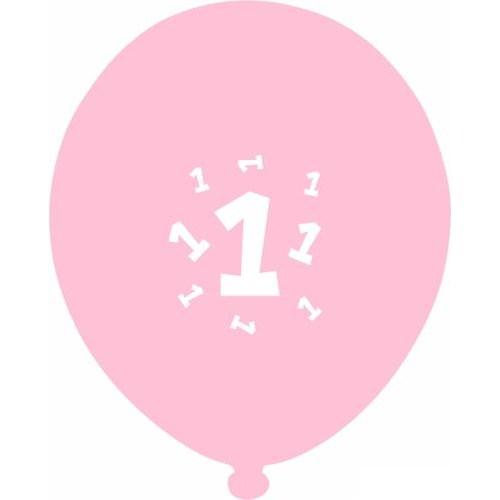 Parti Paketi 1. Yaş Günü Pembe Balon 25'Li
