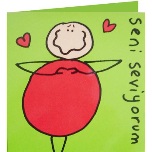 Parti Paketi Seni Seviyorum Kart/Zarf