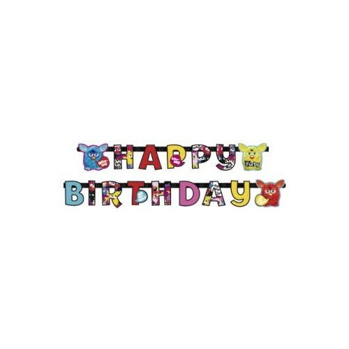Parti Paketi Furby Happy Birthday Banner