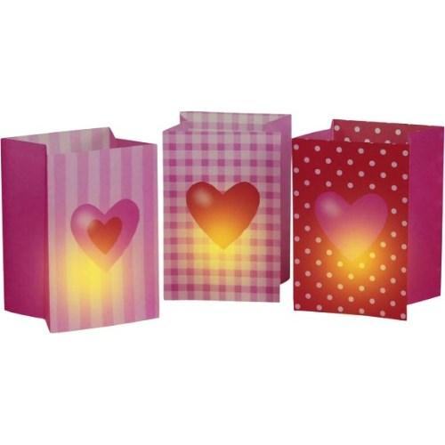 Parti Paketi Tatlı Kalpler Mumluk Torba 3'Lü