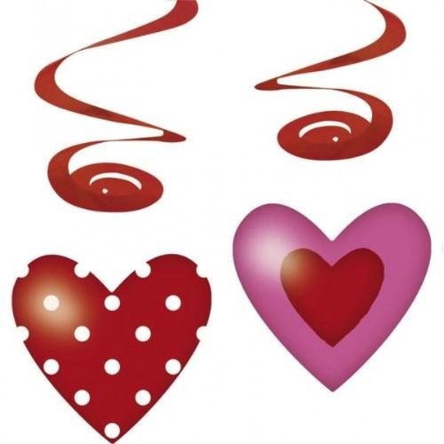 Parti Paketi Tatlı Kalpler Süs Dalgaları 4'Lü