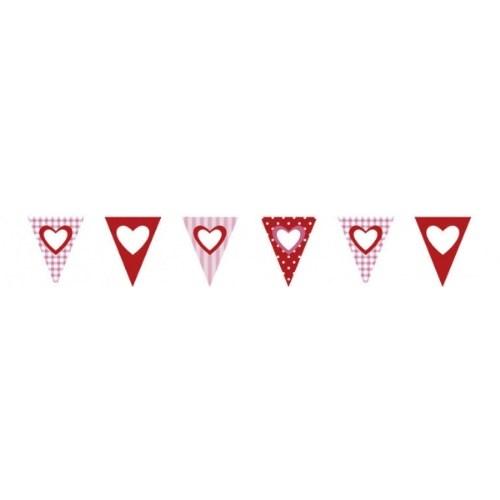 Parti Paketi Tatlı Kalpler Bayrak Dizisi