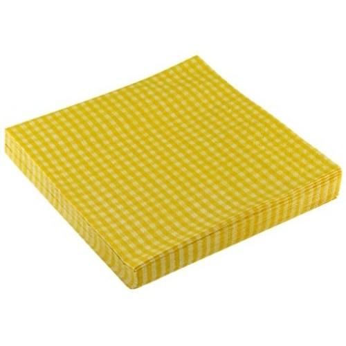 Parti Paketi Sarı Pötikareli Peçete