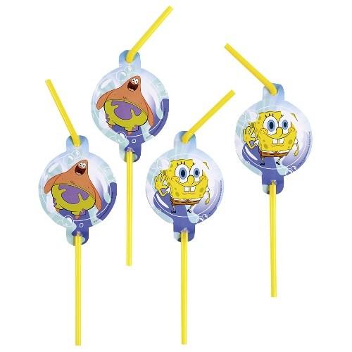 Parti Paketi Sponge Bob Şekilli Pipet