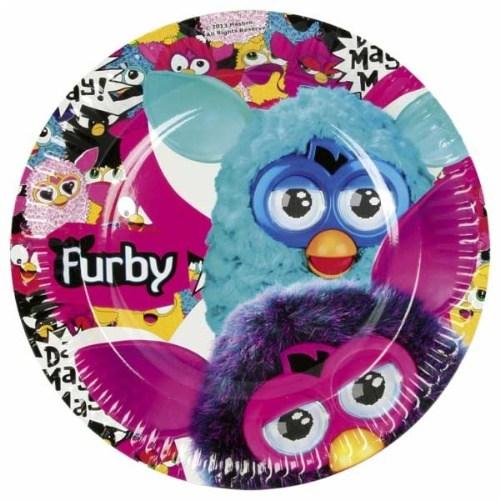 Parti Paketi Furby Büyük Tabak 8'Li