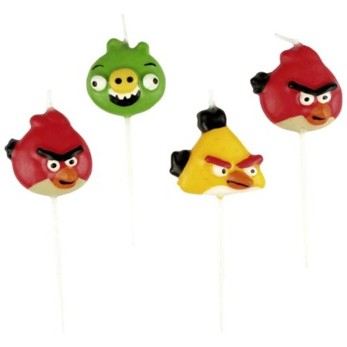 Parti Paketi Angry Birds Mini Mumlar 4'Lü