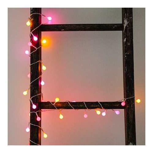 Kikkerland Lightbulb String Lights Pink/Yellow/Red - Çok Renkli Süs Işıkları Pembe-Sarı-Kirmizi