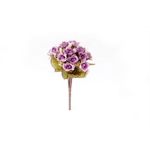Yedifil Kamelya Mor Yapay Çiçek1 Alana 1 Bedava
