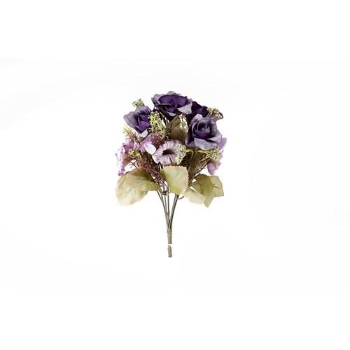 Yedifil Yediveren Yapay Çiçek - Mor