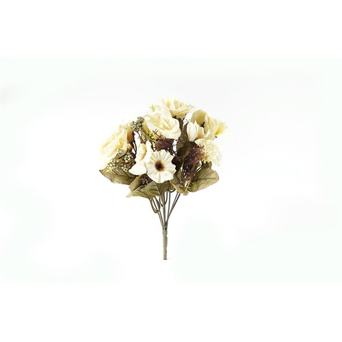 Yedifil Yediveren Yapay Çiçek - Beyaz