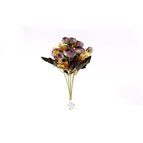 Yedifil Volkan Gülü Yapay Çiçek - Lila