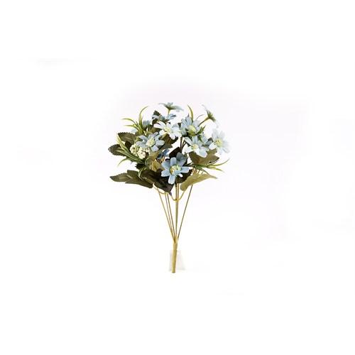 Yedifil Yapraklı Papatya Yapay Çiçek - Mavi