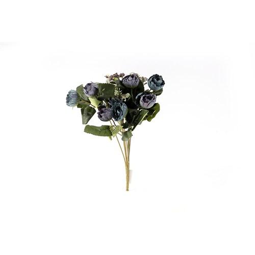 Yedifil Mini Gül Yapay Çiçek - Mavi