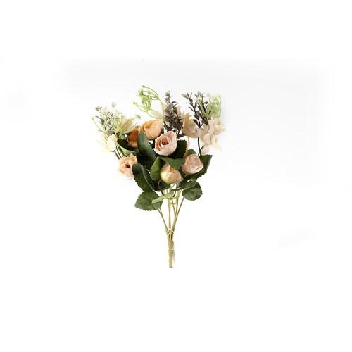 Yedifil Mini Gül Yapay Çiçek - Turuncu