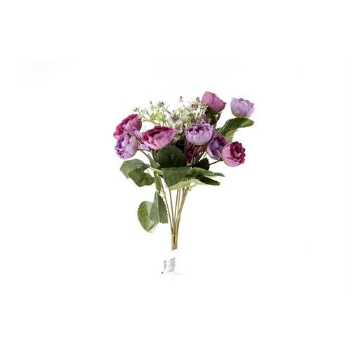 Yedifil Mini Gül Yapay Çiçek - Lila