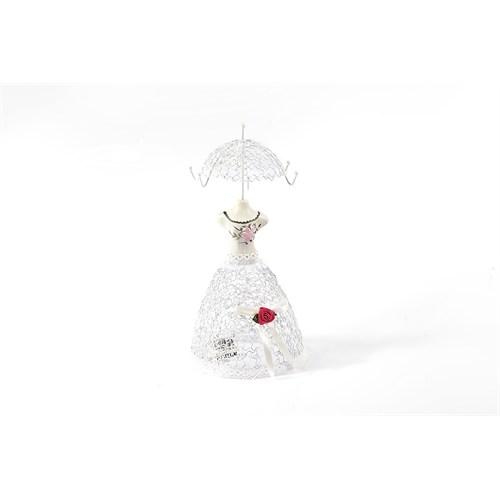 Matmazel Küçük Metal Takılık - Beyaz