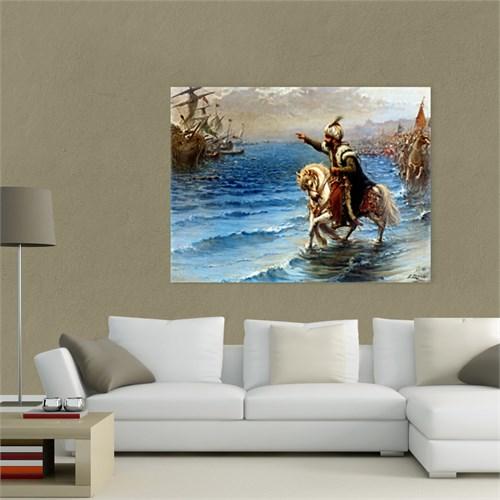 Atlantis Tablo Atını Denize Süren Fatih 65X50 Cm
