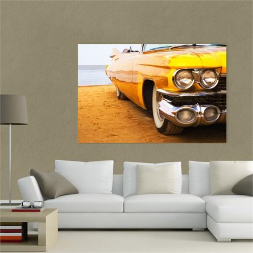 Atlantis Tablo Klasik Sarı Cadillac 75X50 Cm