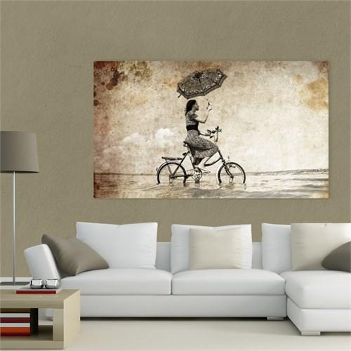 Atlantis Tablo Bisikletli Kız 75X45 Cm