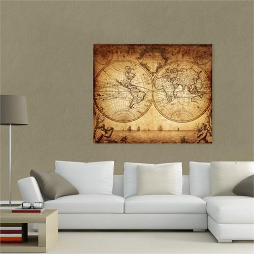 Atlantis Tablo Dünya Haritası 60X50 Cm