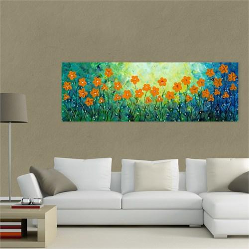 Atlantis Tablo Yeni Çiçekler 90X30 Cm