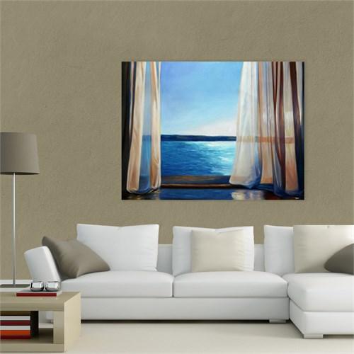Atlantis Tablo Pencereden Deniz Manzarası 65X50 Cm