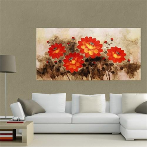 Atlantis Tablo Kırmızı Çiçekler 80X40 Cm